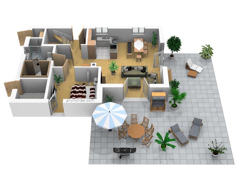 Traumhaus grundriss 3d  Ostseeurlaub im Ferienhaus, Reethaus Luxus 5 Sterne vom ...